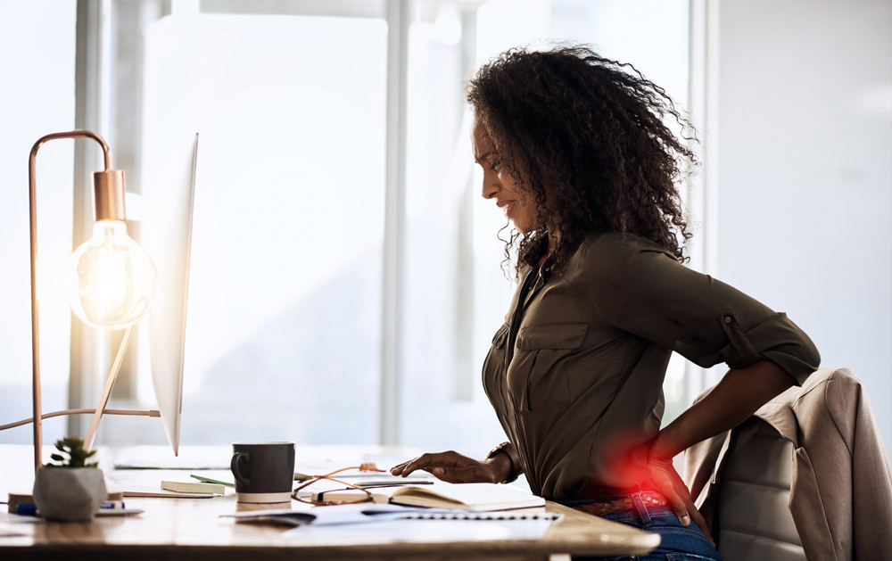 Sittin for a long time at work has negative effects on your health and productivity.