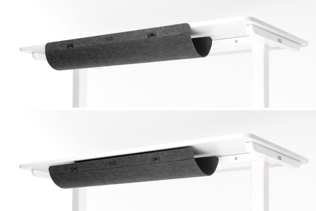 The Yaasa Cable Management can be placed in two different positions. You choose which one you prefer.