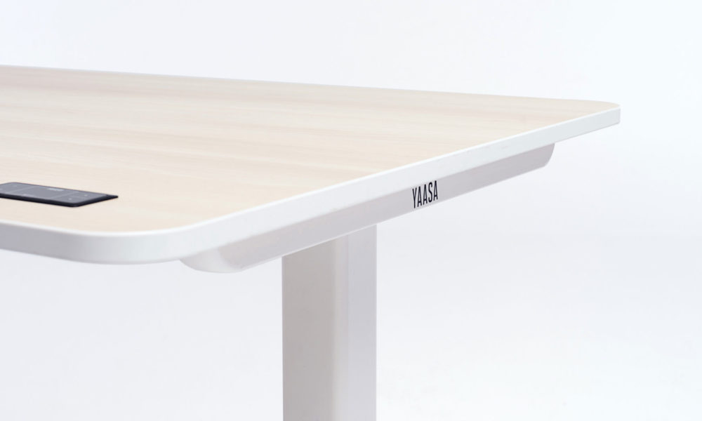 The Yaasa Desk Pro II has rounded, modern-looking edges and an integrated, minimalistic display.