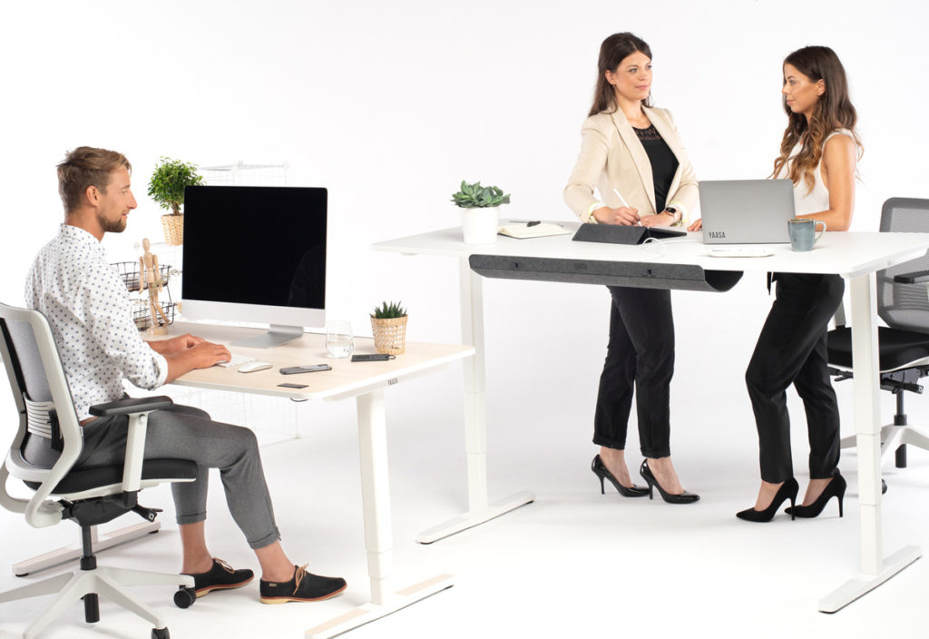 Furnishing your office with products by Yaasa enables working ergonomical, healthy and productively.
