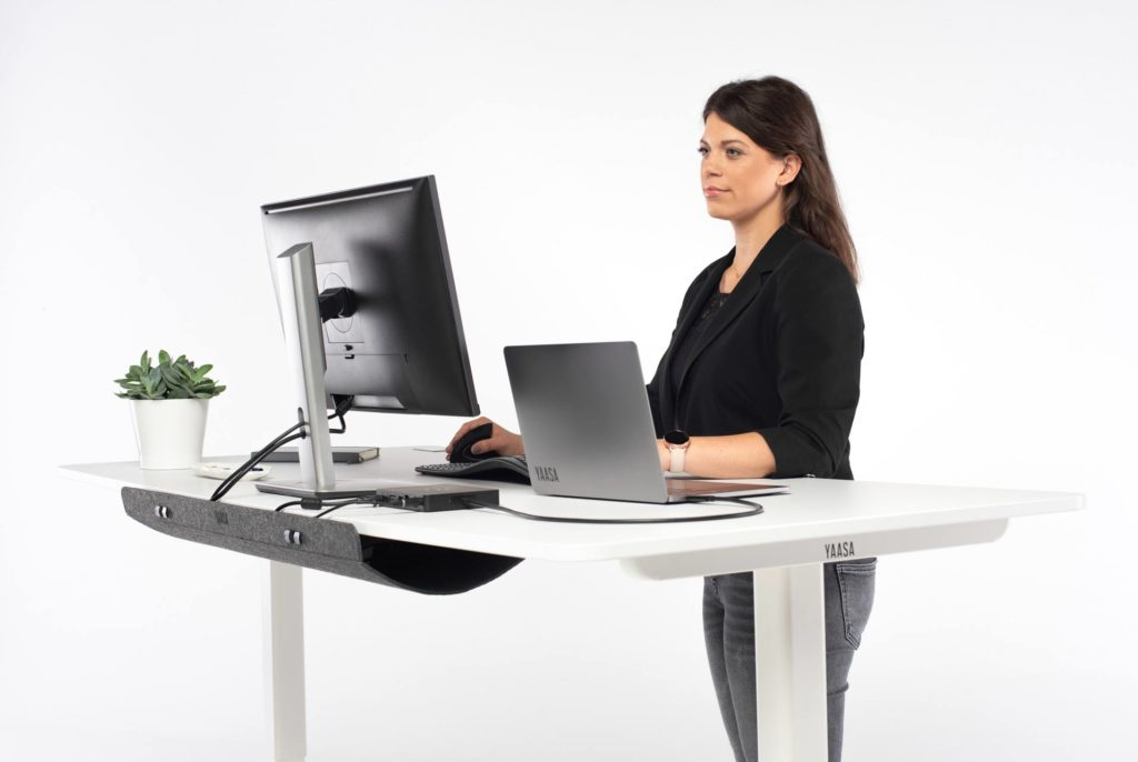 Standing while working boosts your productivity, well-being and health.